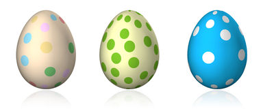 Easter eggs with big dots Stock Images