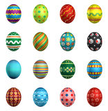 Easter eggs, big pack collection 1 Stock Photos