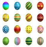 Easter eggs, big pack collection 2 Stock Image