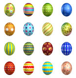 Easter eggs, big pack collection 3 Royalty Free Stock Photography