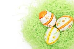 Easter eggs in bird nest Royalty Free Stock Photo