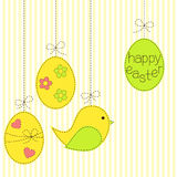 Easter eggs and bird patchwork Stock Images