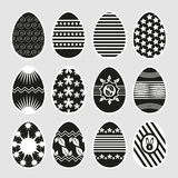 Easter eggs in black and white. Royalty Free Stock Images
