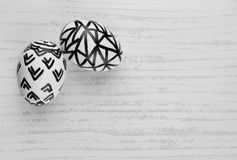 Easter Eggs in Black and White Royalty Free Stock Photo