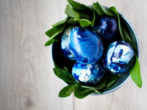 Easter eggs blue royalty free stock photo