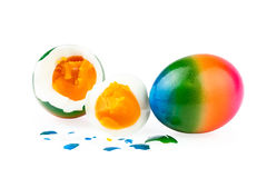 Easter Eggs boiled peeled Royalty Free Stock Photography