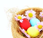 Easter eggs border Stock Photos