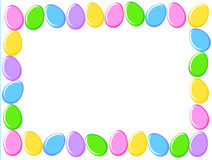 Easter eggs border. Cute colorful easter eggs border / frame white background Royalty Free Stock Image