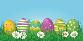Easter Eggs Border, Banner or Header Royalty Free Stock Image