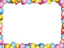 Easter eggs border frame Stock Photos