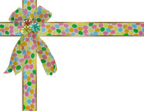 Easter eggs Border ribbons Royalty Free Stock Image