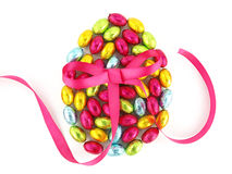 Easter eggs with a bow Stock Photo