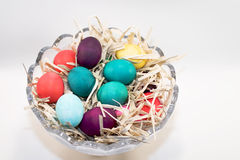 Easter eggs in bowl Stock Photography