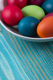 Easter eggs in  bowl Royalty Free Stock Photos