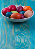 Easter eggs in  bowl Stock Image