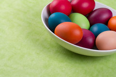 Easter eggs in  bowl Stock Images