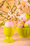 Easter eggs in the bowl Royalty Free Stock Photography