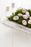 Easter eggs in a bowl Royalty Free Stock Photos