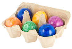 Easter Eggs in a box Stock Photos