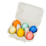 Easter eggs in  box Royalty Free Stock Photos