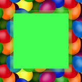 Easter eggs in the box. Green frame of colorful of easter eggs royalty free illustration