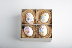 Easter eggs in box Stock Images