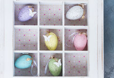 Easter eggs in box Stock Image