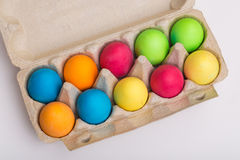 Easter Eggs in a box Royalty Free Stock Image