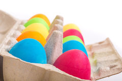 Easter Eggs in a box Royalty Free Stock Photos