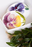 Easter eggs and boxwood Royalty Free Stock Images