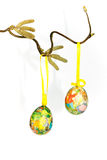 Easter eggs on branch 1 Stock Images