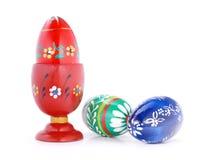 Easter eggs for breakfast Stock Photography