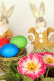 Easter eggs and bunnies  Royalty Free Stock Images