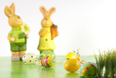 Easter eggs and bunny Royalty Free Stock Photos