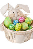 Easter eggs and bunny Stock Images
