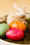 Easter eggs and a bunny Royalty Free Stock Photo