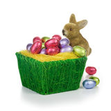Easter eggs and bunny Stock Photography
