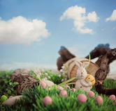 Easter eggs and bunny Royalty Free Stock Images