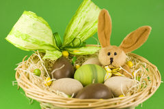 Easter eggs bunny Royalty Free Stock Image