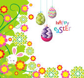 Easter eggs and bunny background beautiful Royalty Free Stock Image