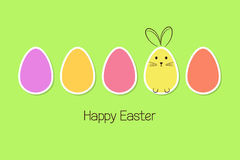 Easter eggs and bunny Royalty Free Stock Image
