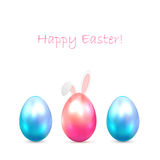Easter eggs with bunny ears Stock Photography