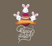 Easter eggs and bunny greeting card Royalty Free Stock Photo