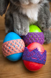 Easter eggs with bunny Royalty Free Stock Photos