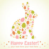 Easter eggs bunny silhouette card Royalty Free Stock Photography