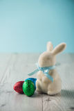 Easter eggs and a bunny Stock Photography