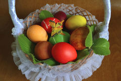 Easter eggs with butterfly Royalty Free Stock Image