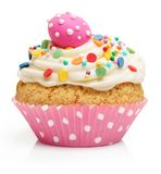 Easter eggs and cake isolated Royalty Free Stock Photos