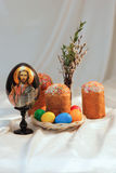 Easter eggs cake Jesus Christ Royalty Free Stock Images