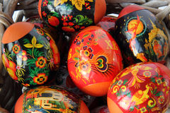Easter eggs  in Khokhloma style Stock Images